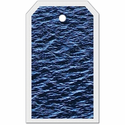 2SYT Tag-UR-It Deep Blue Ocean Water Photo Tag