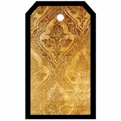 Tag-UR-It Golden Damask Photo Tag