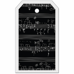 Tag-UR-It Inverted Music Notes Photo Tag
