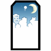 SYT Tag-UR-It Moonlit Skyline Photo Tag