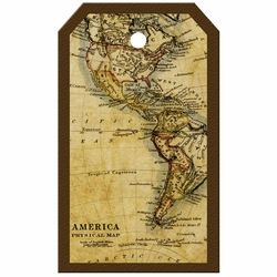 Tag-UR-It Old America Map Photo Tag