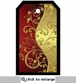 SYT Tag-UR-It Red and Gold Flourish Photo Tag