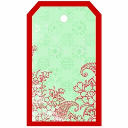 Tag-UR-It: Red Floral Photo Tag