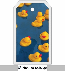 1SYT Tag-UR-It Rubber Ducky Blue Photo Tag