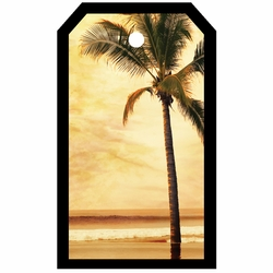 Tag-UR-It Sepia Palm Tree Photo Tag