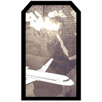 SYT Tag-UR-It Vintage Plane Photo Tag