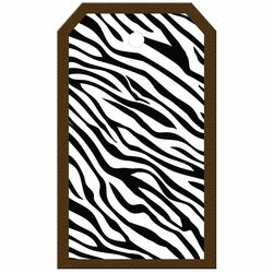 Tag-UR-It Zebra Print Photo Tag