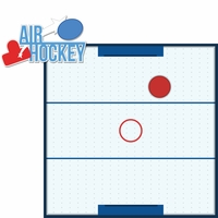 Tabletop Games: Air Hockey 2 Piece Laser Die Cut Kit
