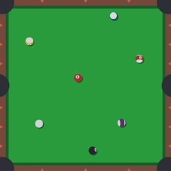 Tabletop Games: Billiards 12 x 12 Paper