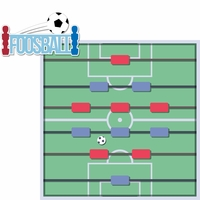 Tabletop Games: Foosball 2 Piece Laser Die Cut Kit