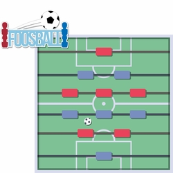 2SYT Tabletop Games: Foosball 2 Piece Laser Die Cut Kit
