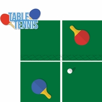 Tabletop Games: Table Tennis 2 Piece Laser Die Cut Kit