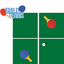 2SYT Tabletop Games: Table Tennis 2 Piece Laser Die Cut Kit