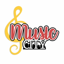 Tennessee: Music City Laser Die Cut