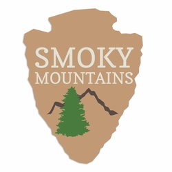 Tennessee: Smoky Mountains Laser Die Cut