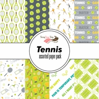 Tennis Assorted 12 x 12 Paper Pack
