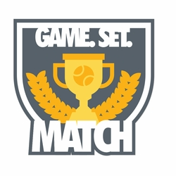 Tennis: Game Set Match Laser Die Cut