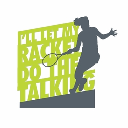 Tennis: Racket Laser Die Cut