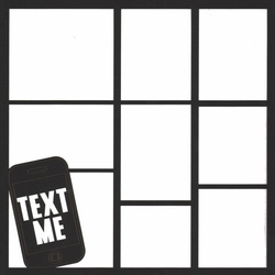 2SYT Text Me 12 x 12 Overlay Laser Die Cut
