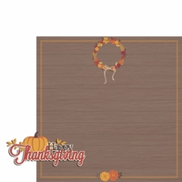 Thanksgiving: Happy Thanksgiving 2 Piece Laser Die Cut Kit