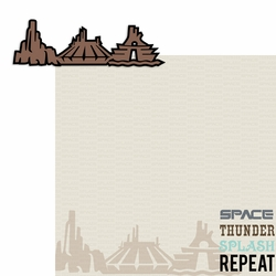 The Mountains: Space Thunder Splash Repeat 2 Piece Laser Die Cut Kit