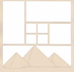 The Pyramids 12 x 12 Overlay Laser Die Cut