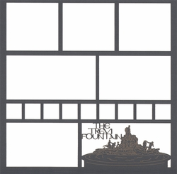 The Trevi Fountain 12 x 12 Overlay Laser Die Cut