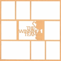 The Winning Team 12 x 12 Overlay Laser Die Cut