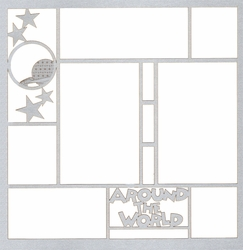 Theme Park: Around The World 12 x 12 Overlay Laser Die Cut