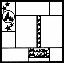 Theme Park: Makin' Magic 12 x 12 Overlay Laser Die Cut