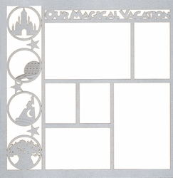 Theme Park: Our Magical Vacation 12 x 12 Overlay Laser Die Cut