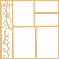 Theme Park: Princess Vertical 12 x 12 Overlay Laser Die Cut