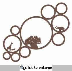 Theme Park Tree Circles 12 x 12 Overlay Laser Die Cut
