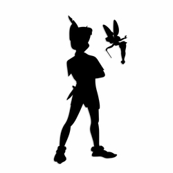 Tinkerbell: Pan and Tink Laser Die Cut