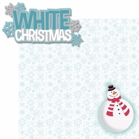 Tis' The Season: White Christmas 2 Piece Laser Die Cut Kit