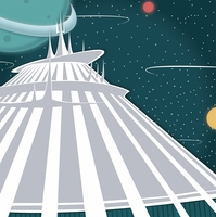 TomorrowLand: SpaceMountain 12 x 12 Paper