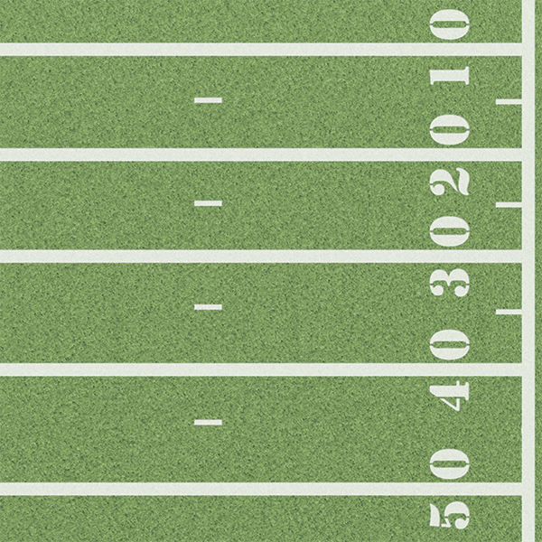 Touch Down Football Field 12 X 12 Paper