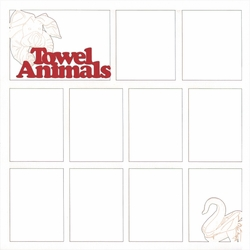 Towel Animals 12 x 12 Overlay Laser Die Cut