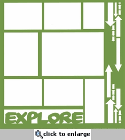 1SYT Travel and Camping: Explore 12 x 12 Overlay Laser Die Cut