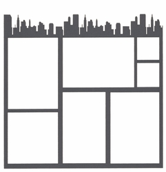 Travel: City Top Border 12 x 12 Overlay Laser Die Cut