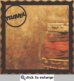 Travel Postage Stamp 12 x 12 Overlay Quick Page