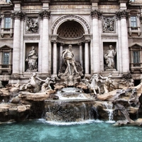 Trevi Fountain 12 x 12 Paper