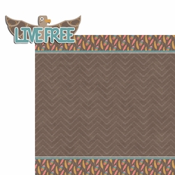 Tribal Life: Live Free 2 Piece Laser Die Cut Kit