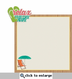 Tropical Delight: Relax the day 2 Piece Laser Die Cut Kit