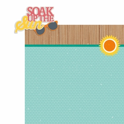 Tropical Delight: Soak up the Sun 2 Piece Laser Die Cut Kit