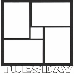 Tuesday 12 x 12 Overlay Laser Die Cut