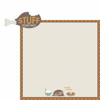Turkey Day: Stuff your Face 2 Piece Laser Die Cut Kit