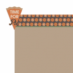 Turkey Day: Time for Pie 2 Piece Laser Die Cut Kit