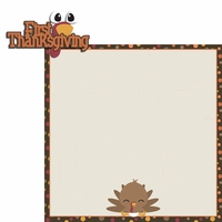 Turkey Time: 1st Thanksgiving 2 Piece Laser Die Cut Kit