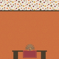 Turkey Time: Kid's Table 12 x 12 Paper
